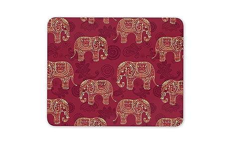 Modelo rojo del elefante tapete de ratones Cojín: Amazon.es ...
