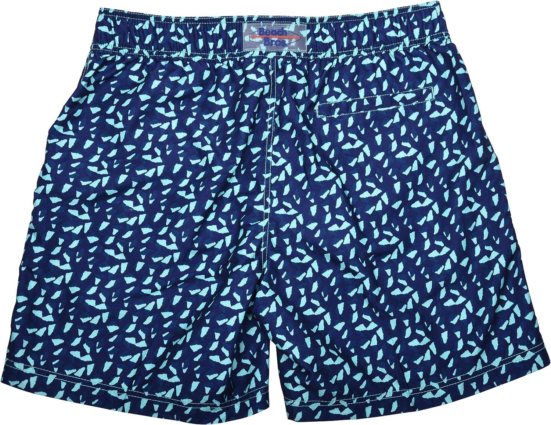 Mens Swim Trunks w//Mesh Lining Quick Dry Bathing Suit w//Fixed Drawstring Waistband /& Pockets Beach Bros