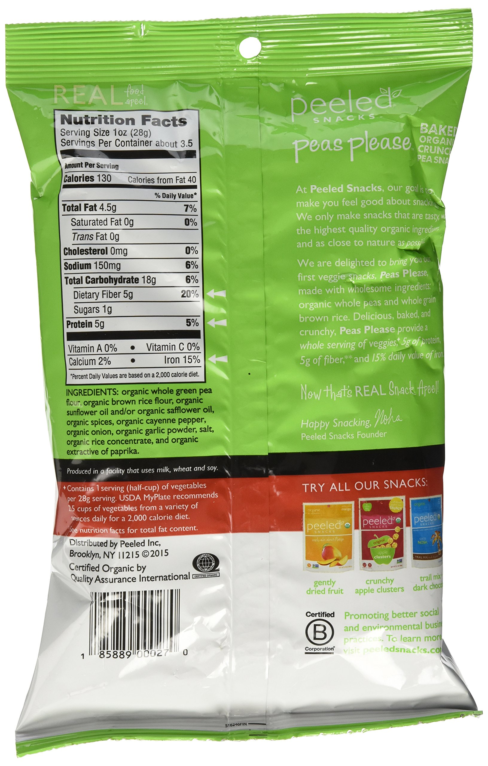 Peas Please Organic Gluten Free Baked Pea Snacks 3 Flavor Variety Bundle: (1) Peas Please Sea Salt, (1) Peas Please Garden Herb, and (1) Peas Please Southwest Spice, 3.3 Oz. Ea. (3 Bags Total)