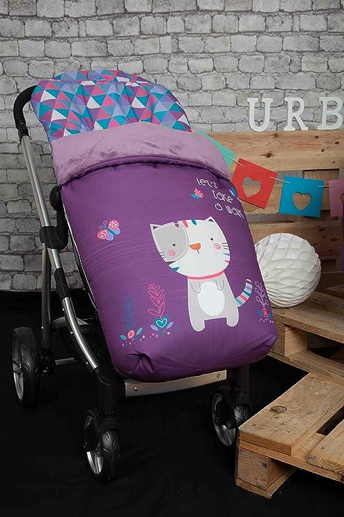 Babyline Kitty - Saco de silla de paseo, color morado