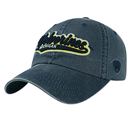 meet db22d 726af Top of the World Michigan Wolverines Official NCAA Adjustable Park Hat Cap  027807