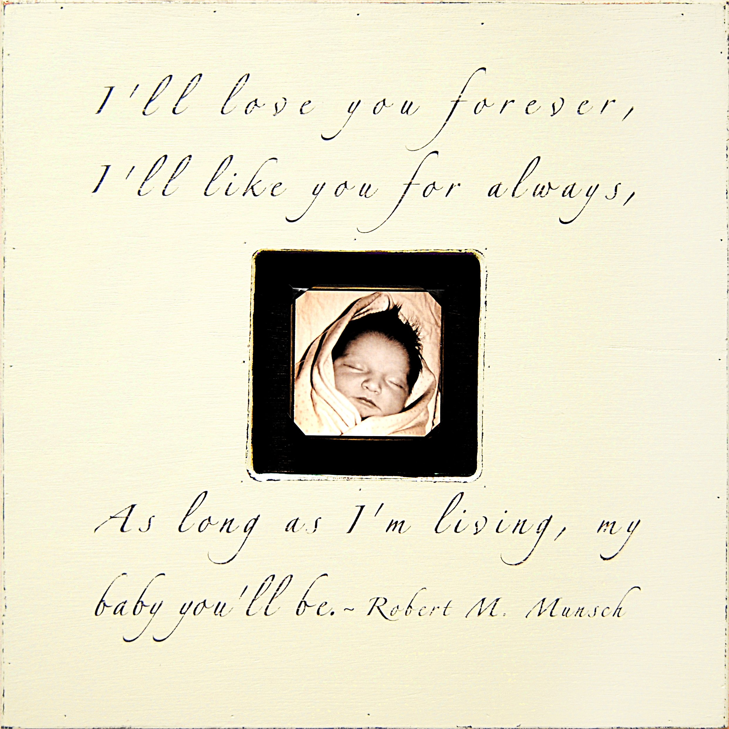 Sugarboo Designs PB181-CR I'll Love You Forever Photobox Frame, 20 by 20 by 1-3/4-Inch, Cream