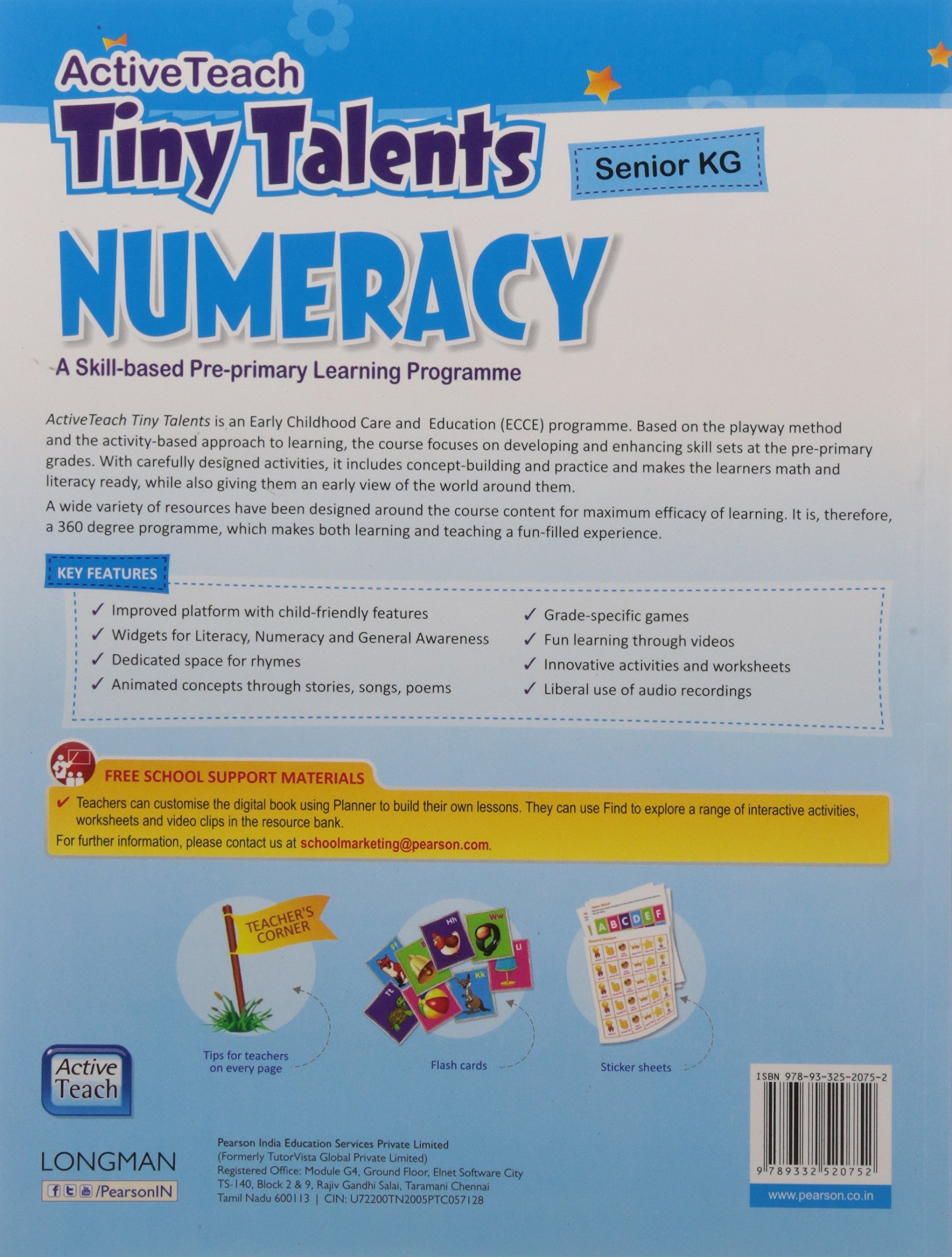 Activeteach Tiny Talents UKG Pack: Literacy, Numeracy and General ...