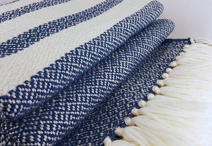 Amazon.com: Wool throw Handwoven blanket Wool blanket Woven ...