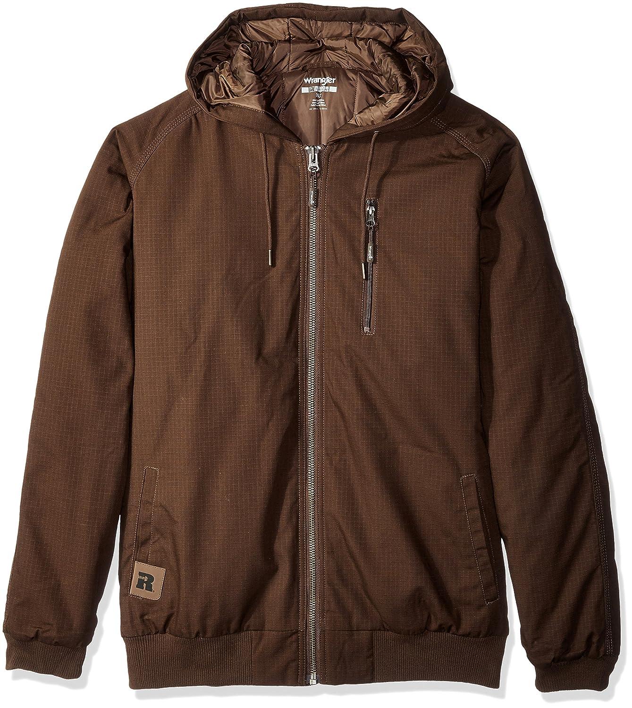Wrangler RiggsワークウェアメンズBig and Tallユーティリティフード付きジャケット B01GS4GS1G L|ダークブラウン ダークブラウン L