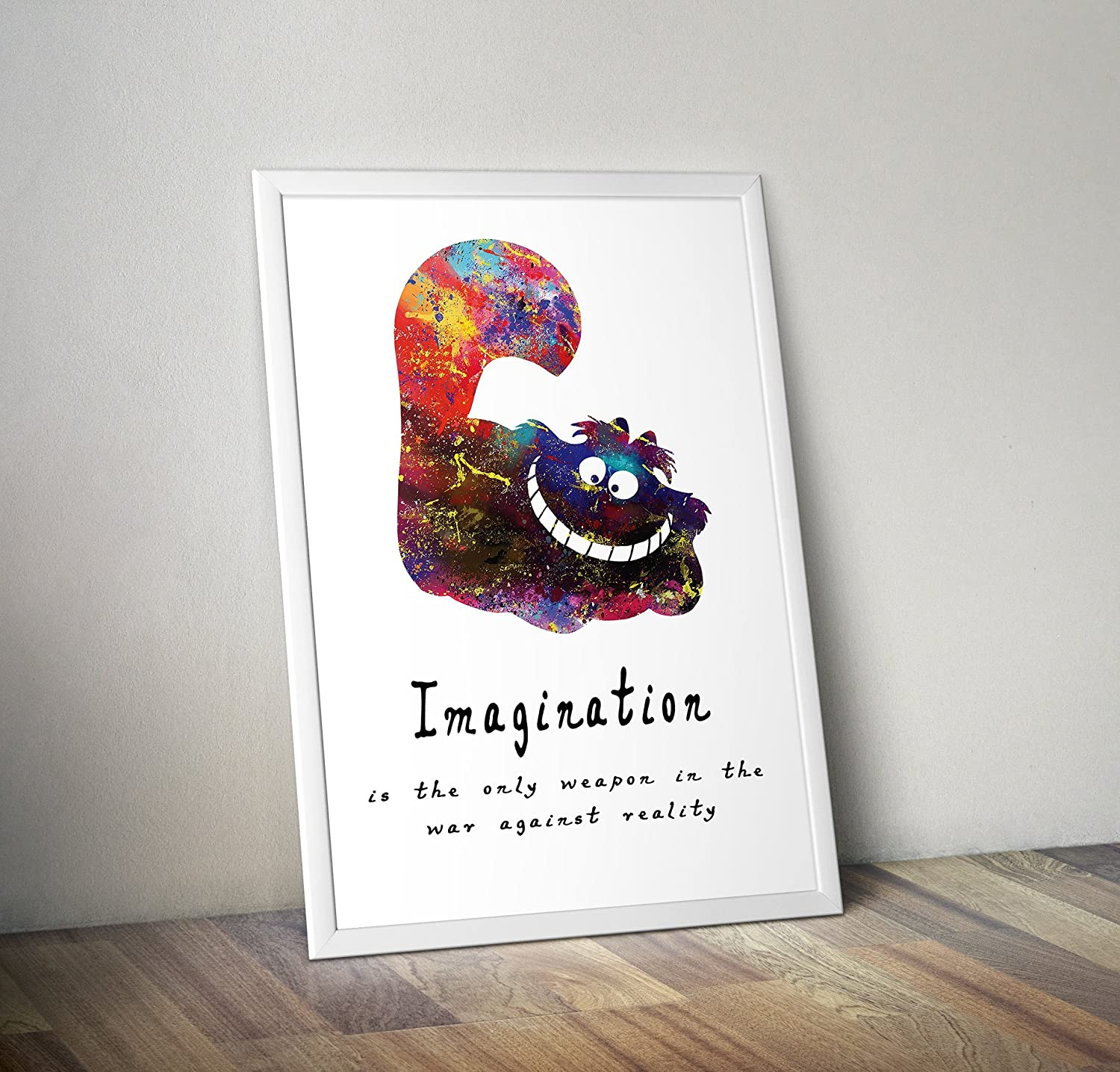 Frame Not Included Quote Alice in wonderland Inspired Watercolour Poster Alternative TV//Movie Prints in Various Sizes