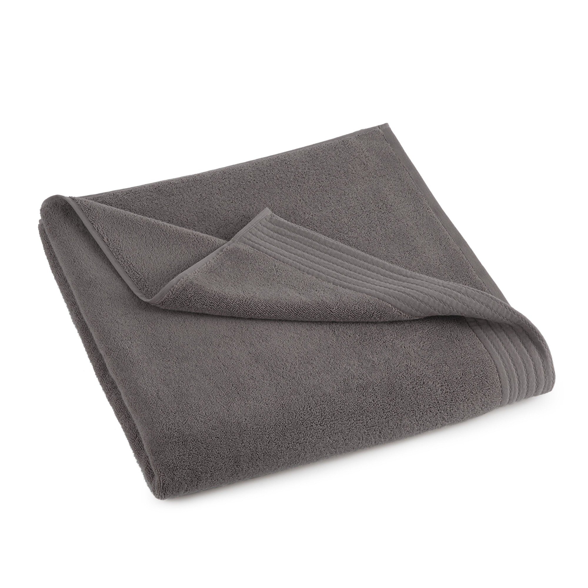 Grand Patrician Turkish Luxury Bath Sheet, Charcoal Grey