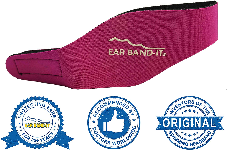 Ear Band-It Diadema de nataci/ón con Tapones para o/ídos Seguros inventado por el m/édico y Recomendado por el m/édico