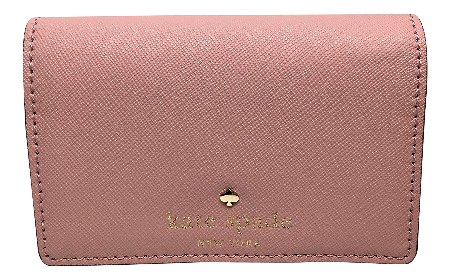 Kate Spade New York Mikas Pond Christine Small Leather Wallet / Color: Pink Bonnet (656)