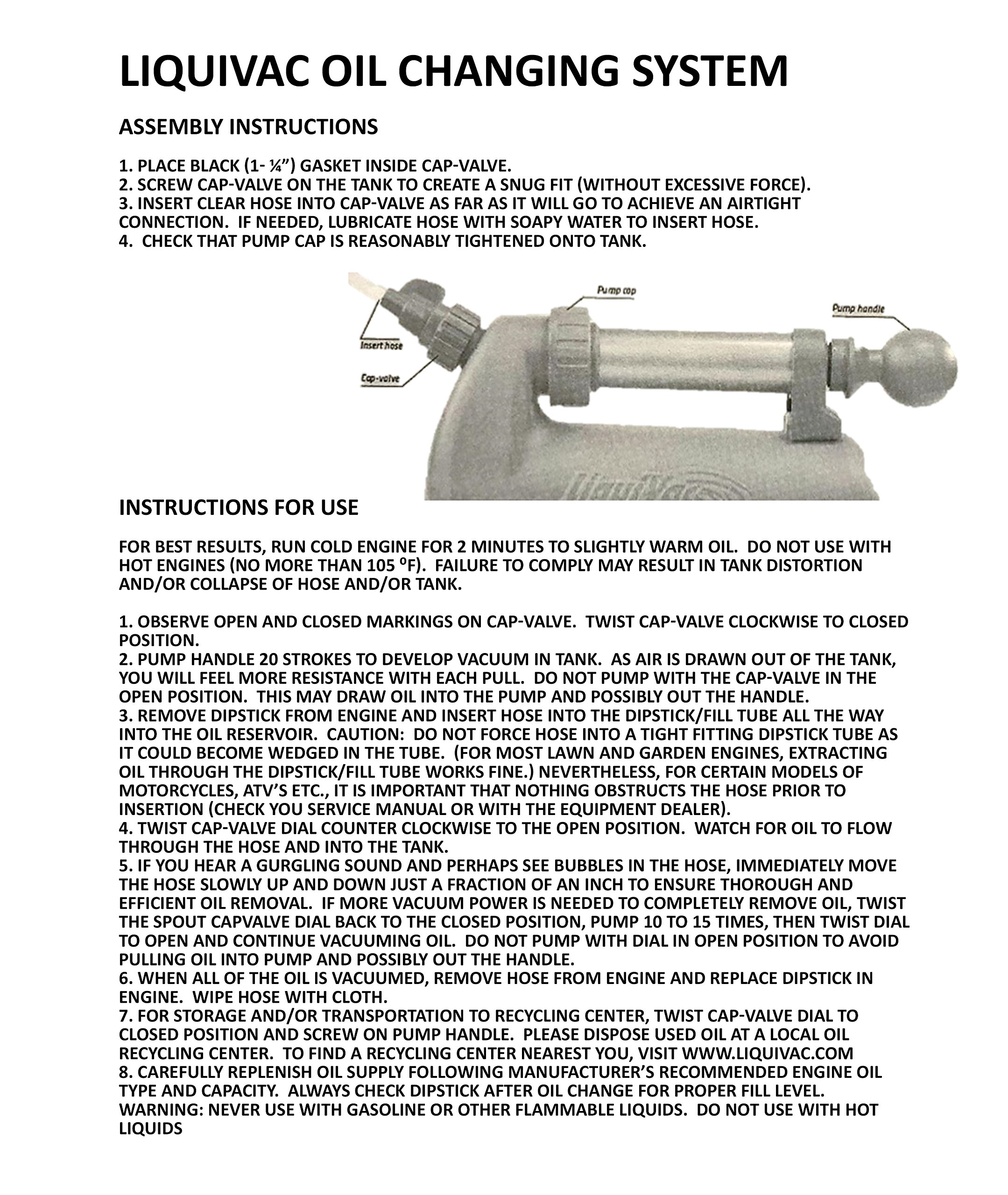 Air Power America 2005LV LiquiVac Oil Changing System for Small Engine by Airpower America (Image #7)