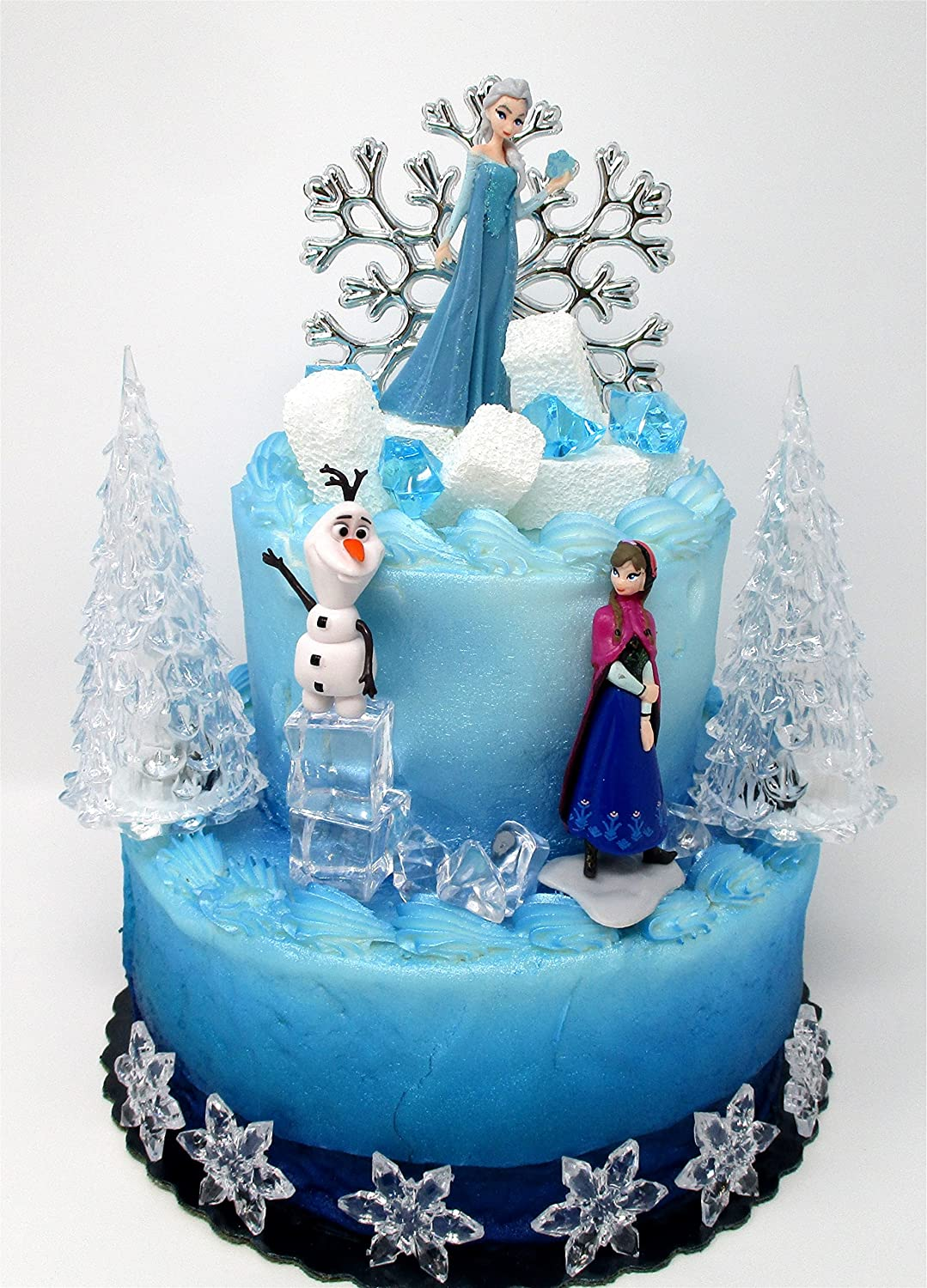 Fabulous Winter Wonderland Princess Elsa Frozen Birthday Cake Topper Set Funny Birthday Cards Online Elaedamsfinfo