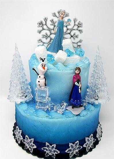 Brilliant Winter Wonderland Princess Elsa Frozen Birthday Cake Topper Set Funny Birthday Cards Online Alyptdamsfinfo