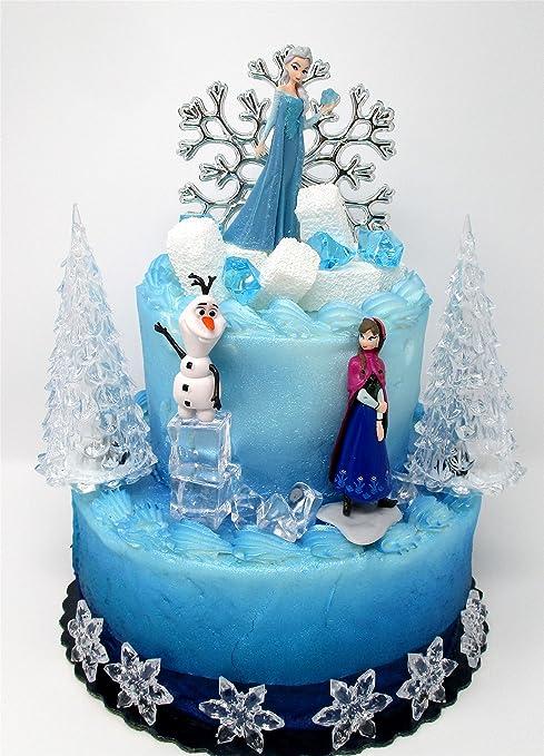 Super Amazon Com Cake Toppers Winter Wonderland Princess Elsa Frozen Personalised Birthday Cards Veneteletsinfo