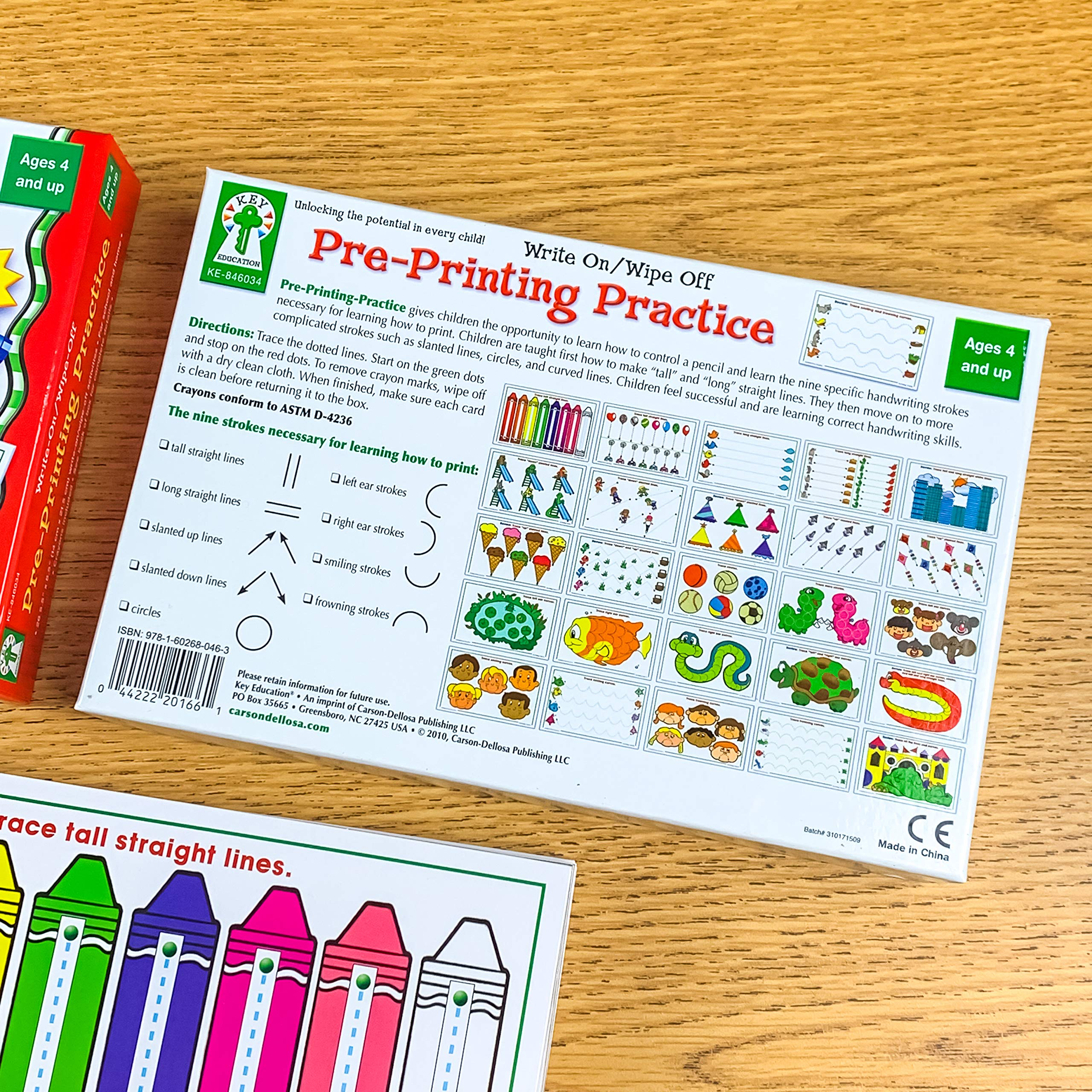 Carson-Dellosa Key Education Pre-Printing Practice Write On/ Wipe Off (846034) 26 Activities by Carson-Dellosa
