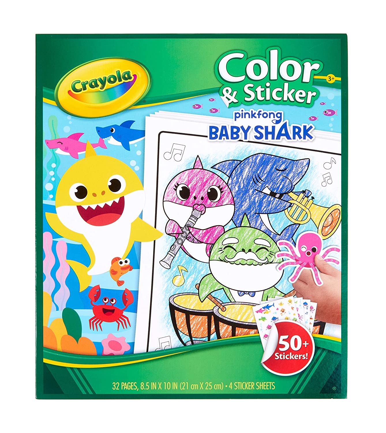 Crayola Baby Shark Gift For Kids Ages 3 4 5 6
