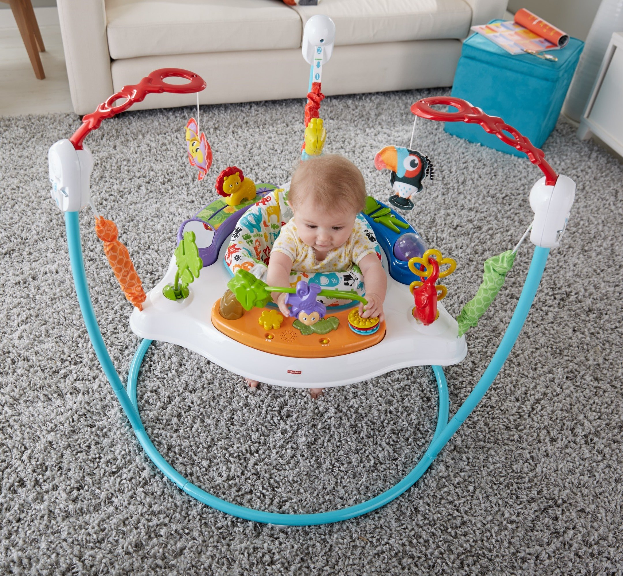 Fisher-Price Animal Activity Jumperoo, Blue by Fisher-Price (Image #4)