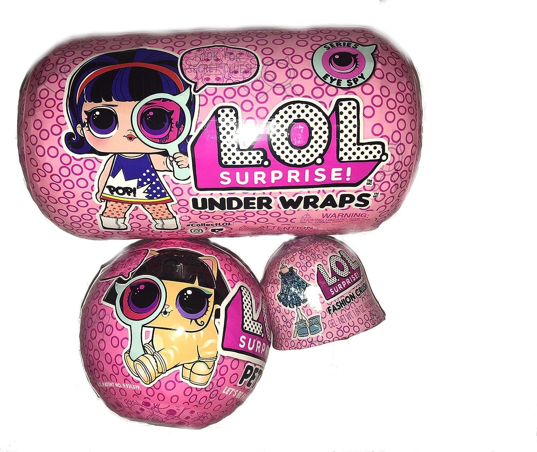 L.O.L Series Eye Spy and 5 Stickers 2 PC Bundle Surprise!l Ball Pet Pet Eye Spy Wave 1