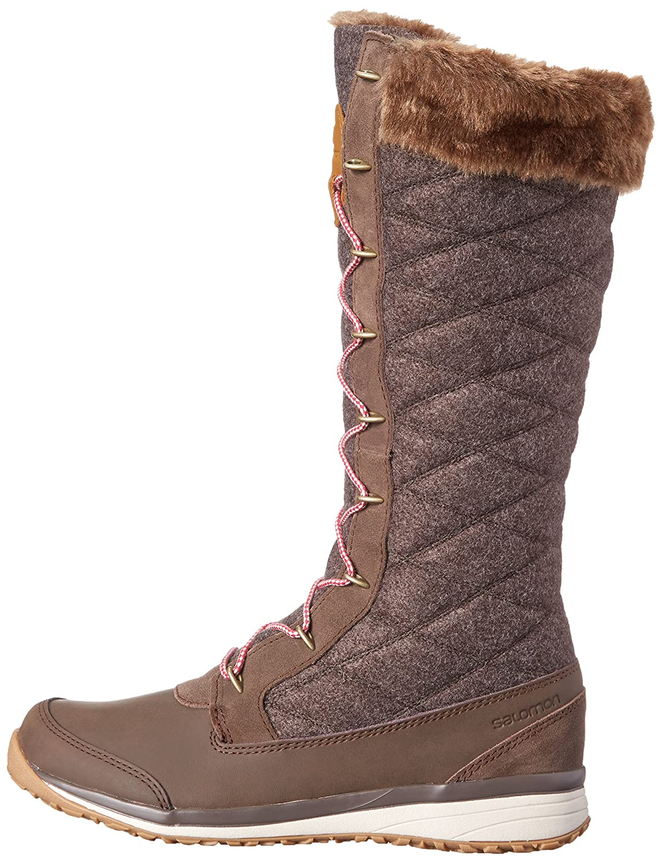 Salomon Women's Hime High Snow Boot B00PRNNUI4 8 B(M) US|Absolute Brown