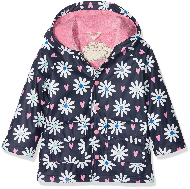 Hatley Girls' Little Printed Raincoats, Lovely Daisies, 2
