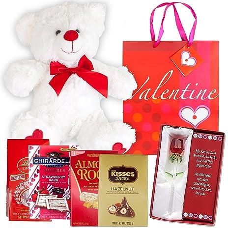 Amazon Com Valentines Day Gift Basket Set 12 Teddy Bear Plush