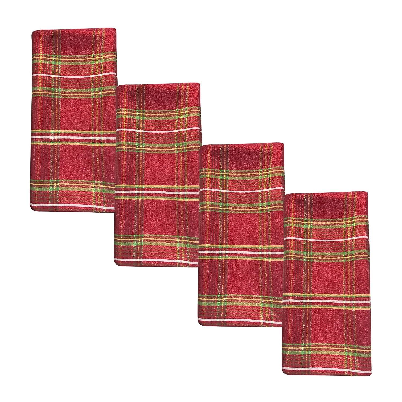 Benson Mills Christmasville Metallic Fabric Napkins (Set of 4), 18 x 18