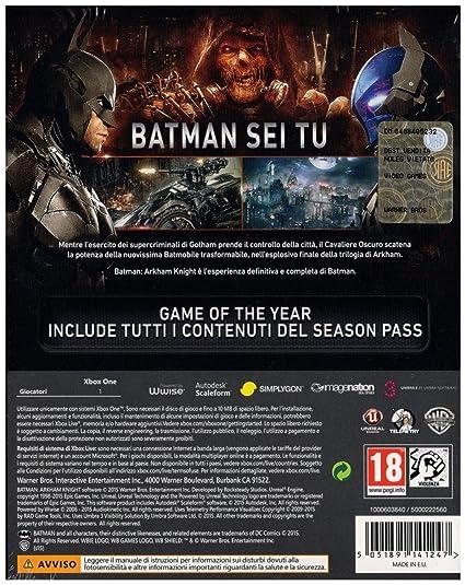 Batman Arkham Knight - Game Of The Year Importación Italiana ...