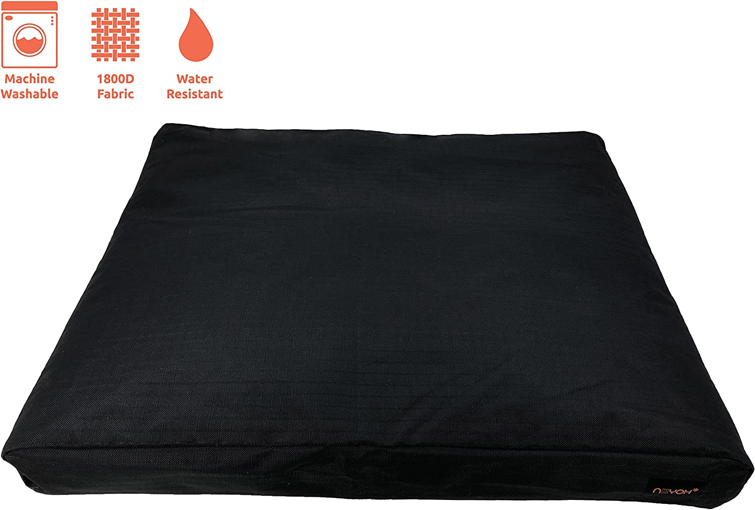 Niiyoh Mighty Dog Bed Orthopedic with Super Durable 1800D Ripstop Fabric Great for Outdoors
