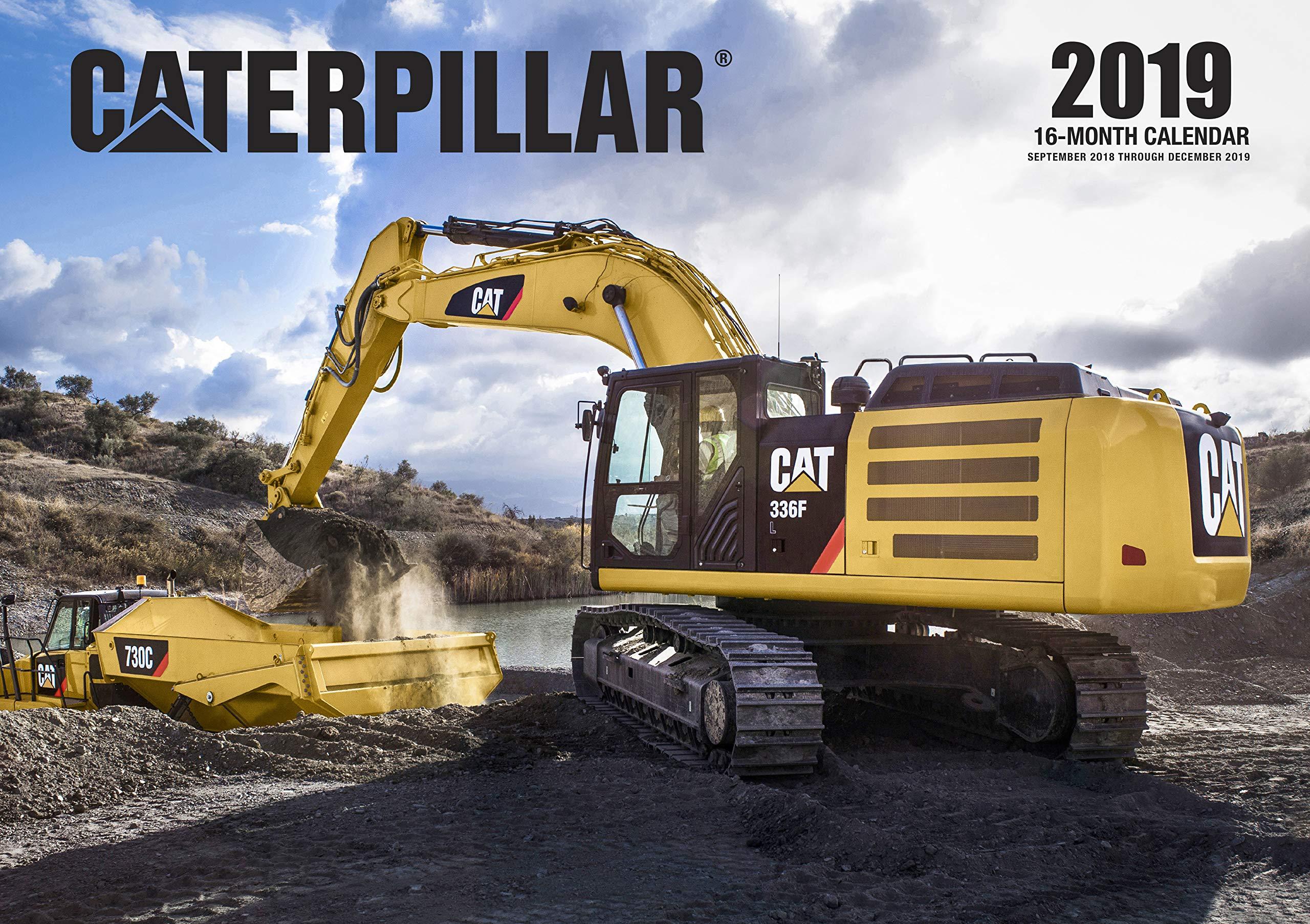 Caterpillar 2019: 16 Month Calendar September 2018 Through December
