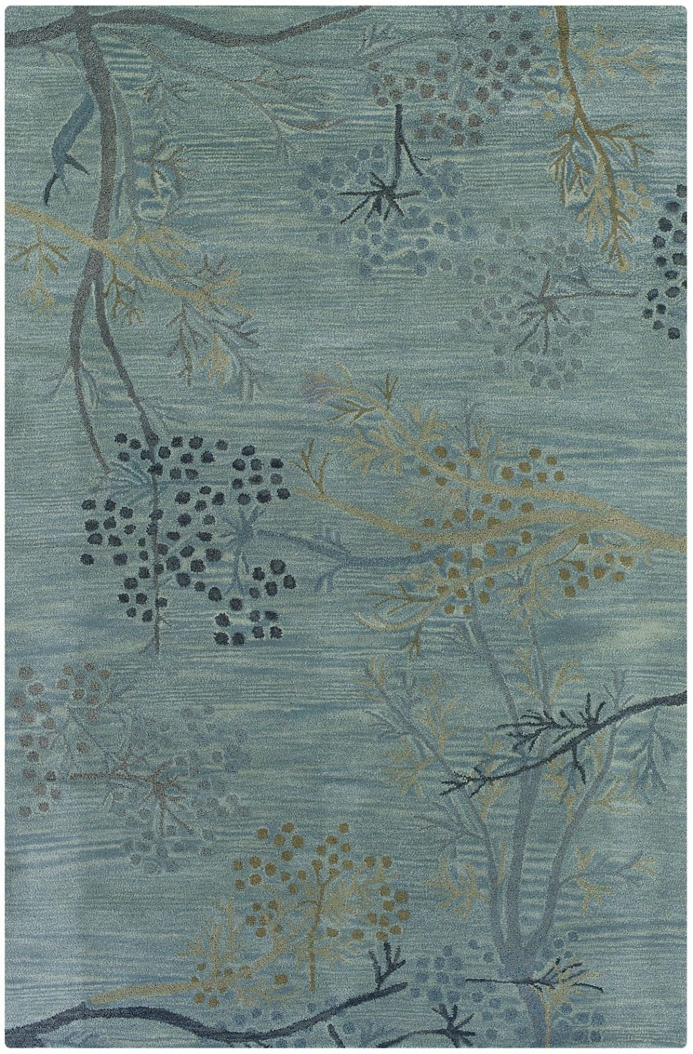Rizzy Rugs Country & Floral Round Area Rug 8' Light Blue Craft Collection