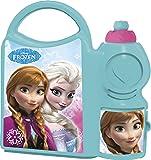 Disney Frozen School Plastic Lunch Box Set, 2-Pieces, Blue