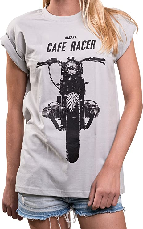 camiseta mujer café racer