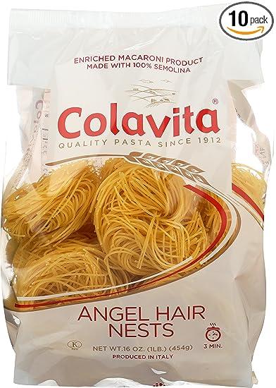 Amazon Com Colavita Capellini Nest Angel Hair Pasta 16 Ounce