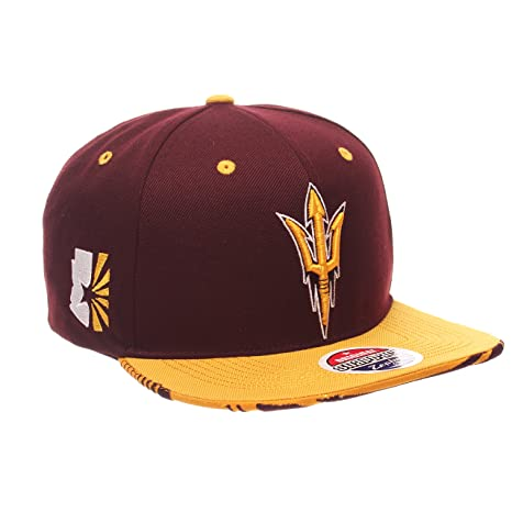 best cheap e25fc c3c0f NCAA Arizona State Sun Devils Adult Men s Drop Step Snapback Hat,  Adjustable Size, Team