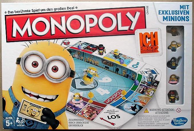 Hasbro Monopoly Ich einfach unverbesserlich 2 - Juego de mesa (incluye 2 figuras, texto en alemán), diseño de Minion: Amazon.es: Juguetes y juegos