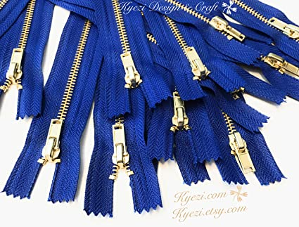 """5 or 10 pcs Nylon Coil Closed End Zippers 6/"""" 8/"""" 10/"""" inches zipper Gauge 3"""