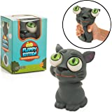 Squishy Eye Popping Cat By Funky Toys | Large Squishy' Eye Popping Squeeze Toy For Stress Reduction | Perfect Kitten Gift For Boys & Girls | Great For Kids With Autism & ADHD