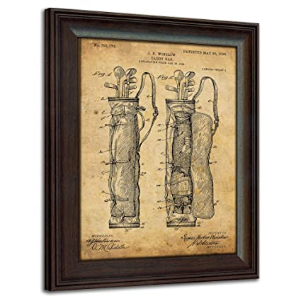 Amazon.com: Framed Golf Patent Art Prints - 14 in X 17 in Finished ...