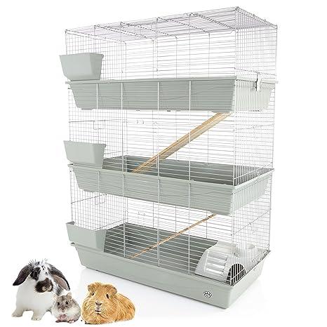Cozy Pet Jaula de conejo / cobaya, 3 niveles, 120 cm, apta para ...
