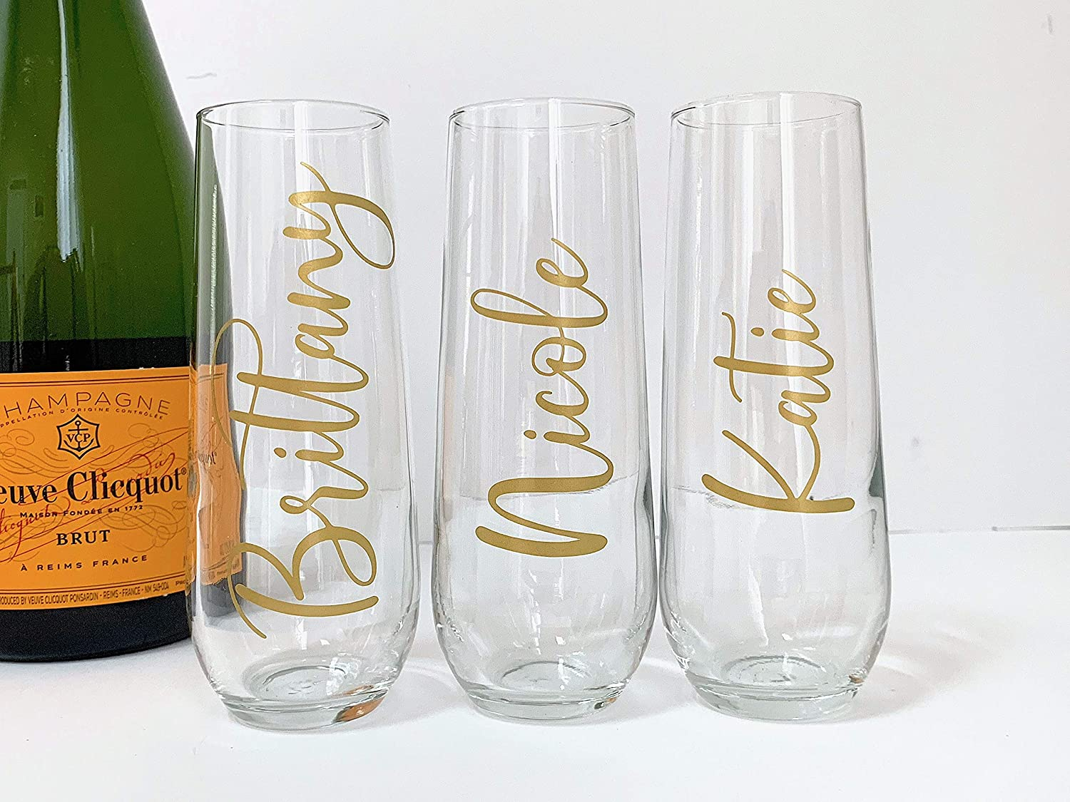 Personalized Champagne Flutes With Custom Name