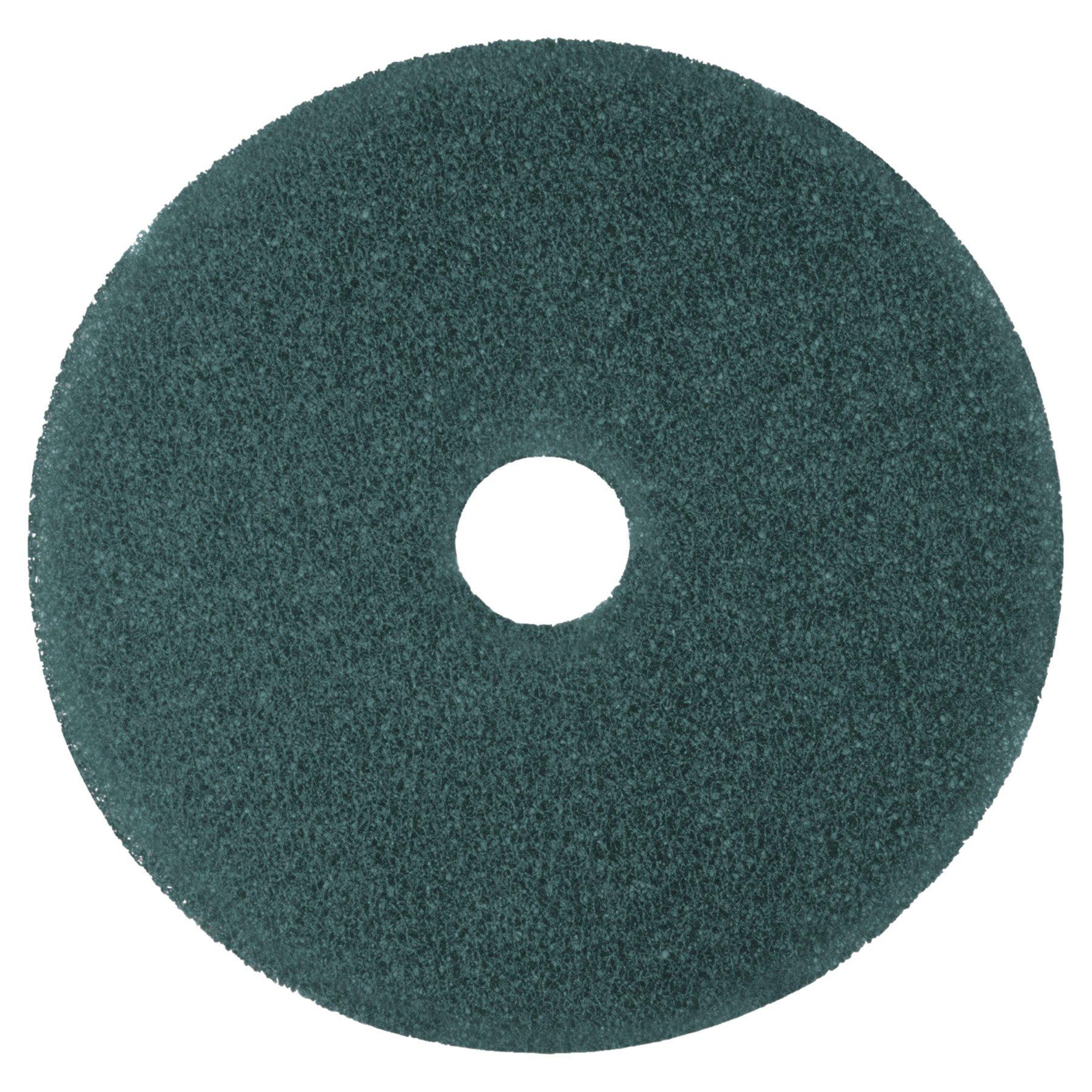 3M Blue Cleaner Pad 5300, 17'' Floor Care Pad (Case of 5)