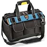 YINLONGDAO 13 Inch Small Tool Bag Wide Mouth Electrician Tool Bag with Water Proof Molded Base (13 INCH)
