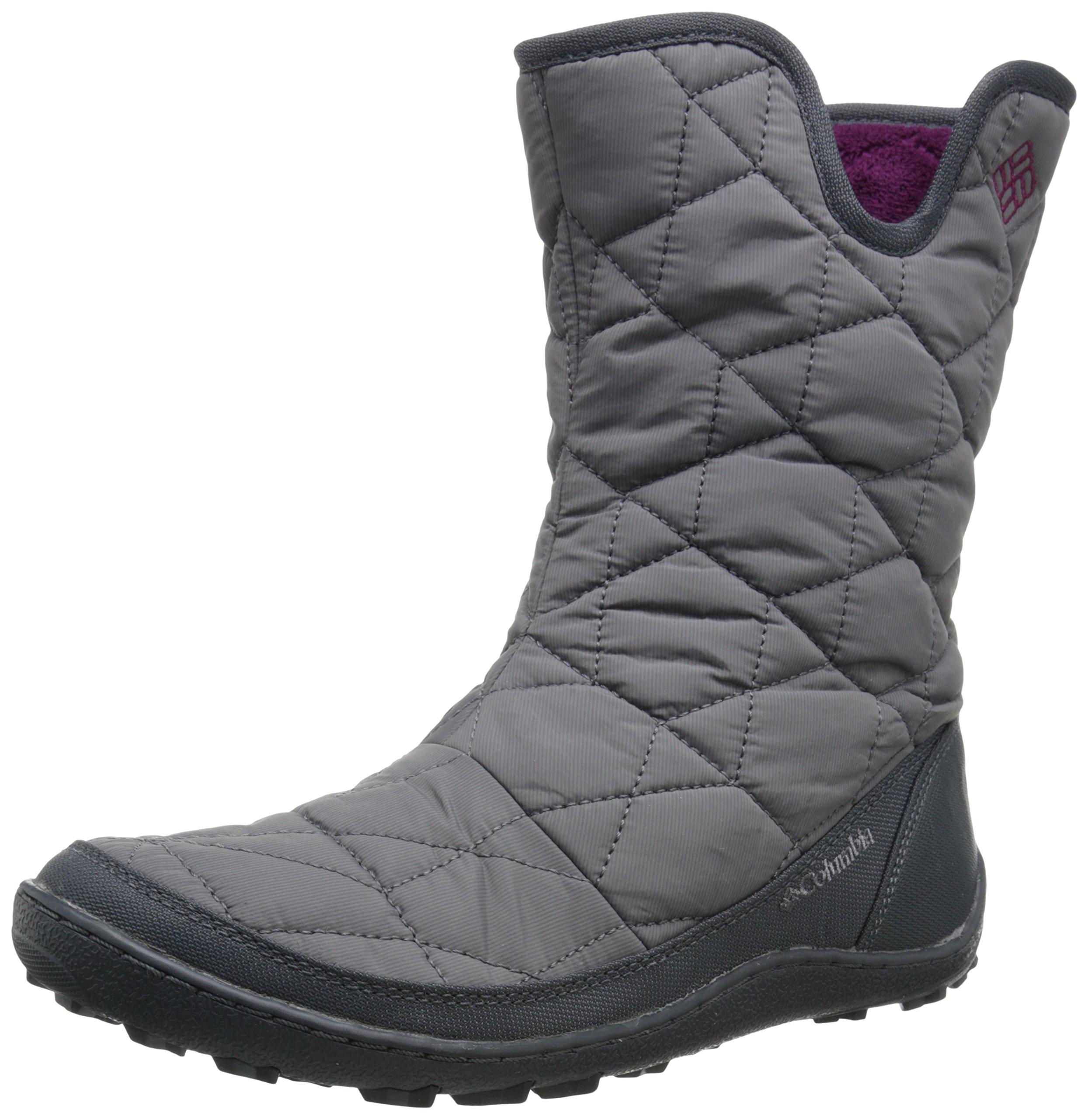 Columbia Women's Minx Slip Ii Omni-heat Snow Boot, Shale, Dark Raspberry, 10 B US