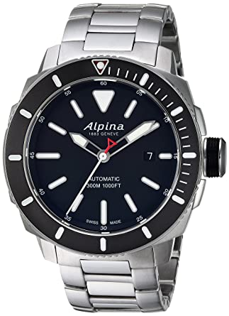 Amazoncom Alpina Mens Seastrong Swiss Automatic Stainless Steel - Alpina diver watch