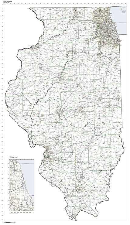 ZIP Code Map State of Illinois Laminated Zip Code Map Illinois on illinois town map, il zip map, belleville illinois state map, indiana county map, north shore of chicago map, illinois tollway toll plazas map, illinois latitude map, illinois district map 2014, illinois in warrenville il map, illinois department of public health regions, zip codes by state map, illinois road map, illinois area code map, illinois weather, 2015 illinois tornado map, illinois metro area map, state of rhode island cities and towns map, il county map, illinois postal code map, illinois zip code list,