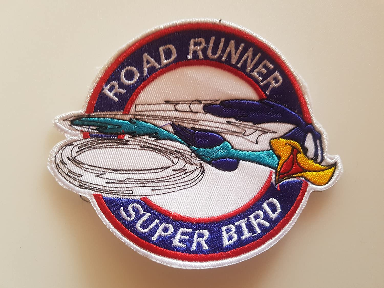 Enti/èrement brod/é 12 x 10 cm # 149 Road Runner SUPERBIRD GR/ÖSSE env Patch APLICATION ECCUSON Hot Rod!