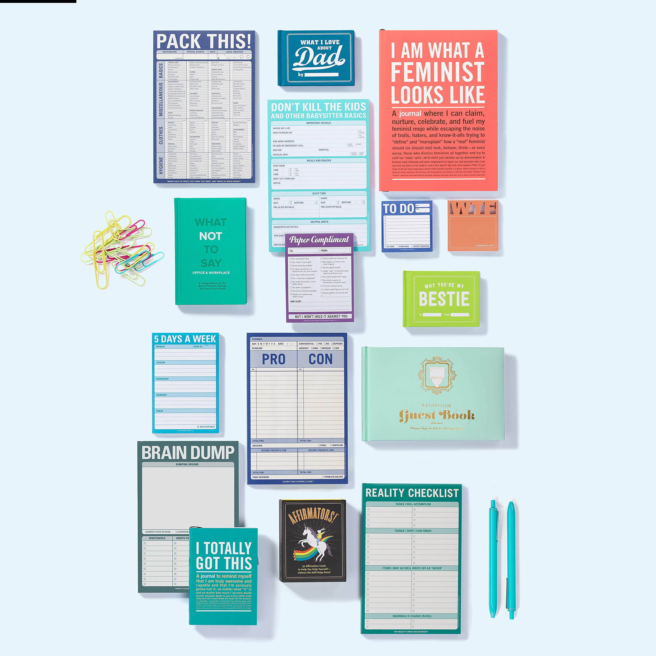 Affirmators! Original Deck 50 Affirmation Cards to Help You Help Yourself - Without the Self-Helpy-Ness! by Knock Knock
