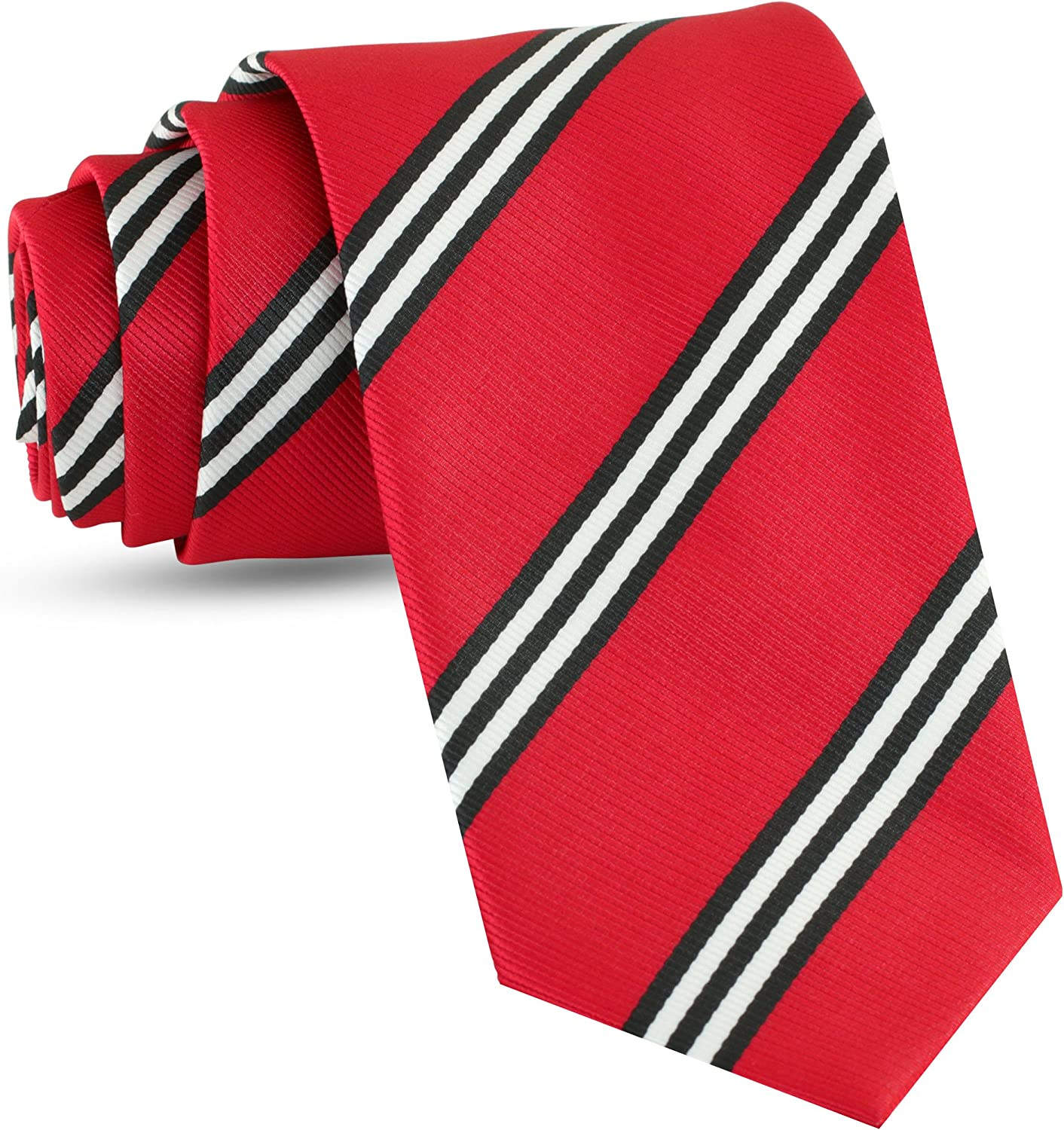 Luther Pike Seattle Handmade Striped Ties For Men Woven Mens Ties Stripes Tie Necktie