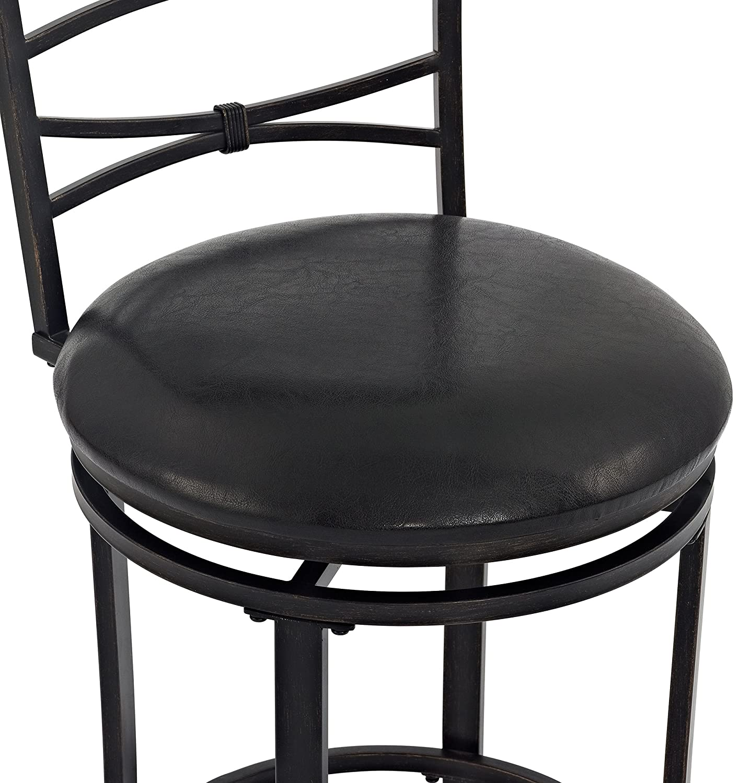 Crosley Furniture CF520930BG-BK Highland Swivel Bar Stool 30-inch Gold with Black Cushion