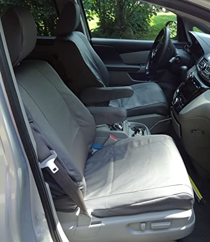 Durafit Seat Covers, Honda Odyssey GRAY TWILL 8 Passenger Van Complete Set. Seat  Covers