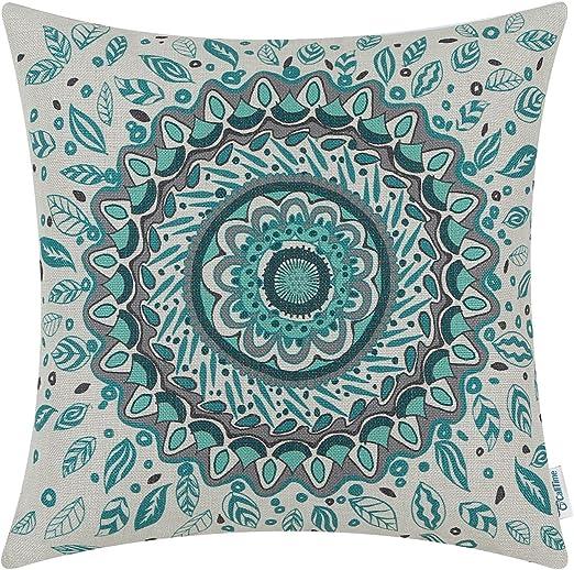 Amazon Com Calitime Canvas Throw Pillow Cover Case For Couch Sofa
